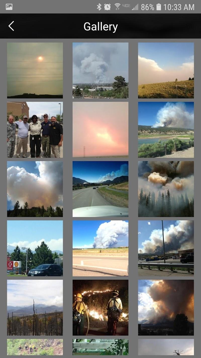 Скриншот Colorado Wildfire Watch