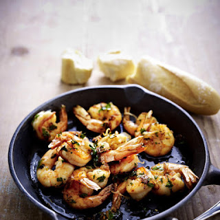 Pan-Fried Shrimp with Garlic and Parsley Butter.