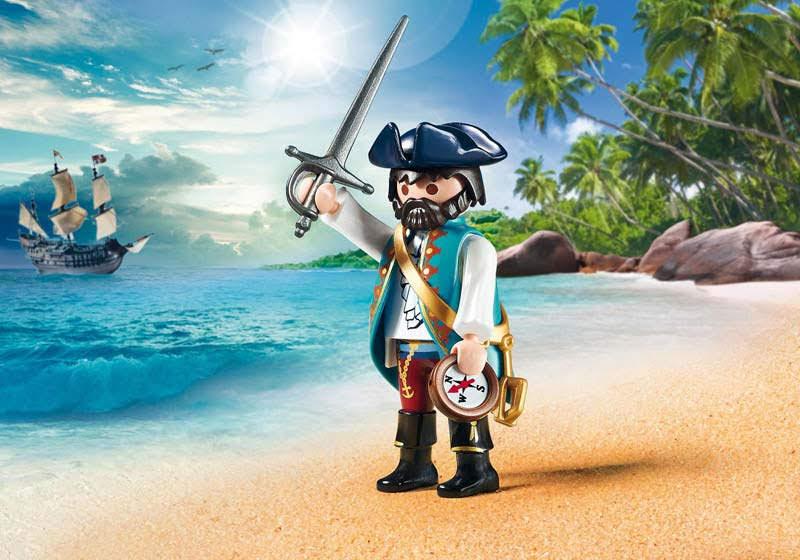 Contenido real de Playmobil® 70032 Pirata