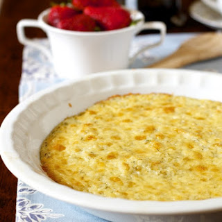 Lightened Cheddar Grits Casserole