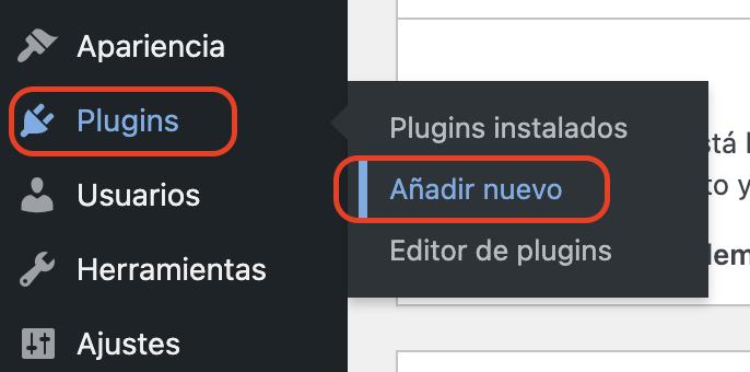instalar nuevo plugin en wordpress