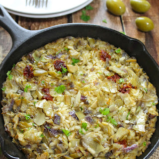 Artichoke, Olive & Sundried Tomato Baked Risotto