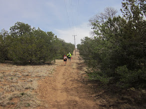 Photo: Starting up the really steep powerline section again