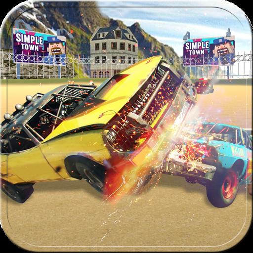 模拟の車解体車戦争3D LOGO-記事Game
