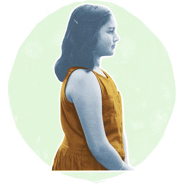 Teenage girl, Gitanjali Rao, in profile.