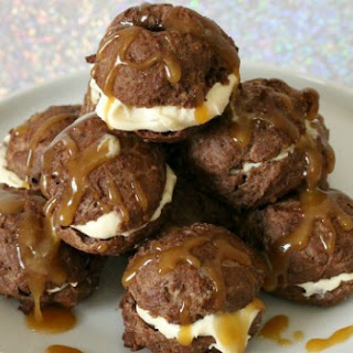 Chocolate Caramel Cream Puffs