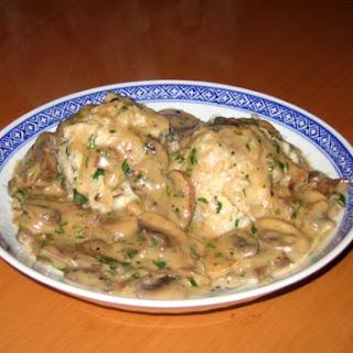 Semmelknödel mit Pilzen – Bread dumpling with mushrooms
