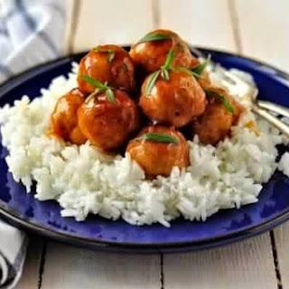 Meatballs In A Glaze Of Cider Chicken