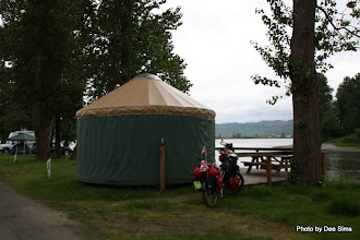 Photo: (Year 2) Day 344 - Our Yurt at the Elochman Marina on the Columbia River