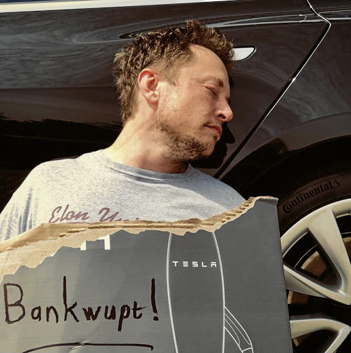 Let's hope Elon Musk's joke about bankruptcy does not turn into reality. Picture: ELON MUSK ON TWITTER