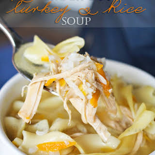 Crock Pot Turkey Rice Soup.