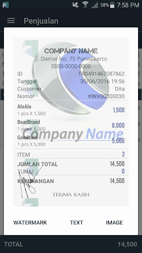 Kasir Toko Portable - Point of Sale Applications (apk) téléchargement gratuit pour Android/PC/Windows screenshot