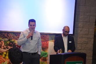 Photo: Joe talking about YEA events