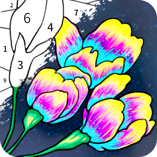 Always Color by Number Adult Paint Colouring Game