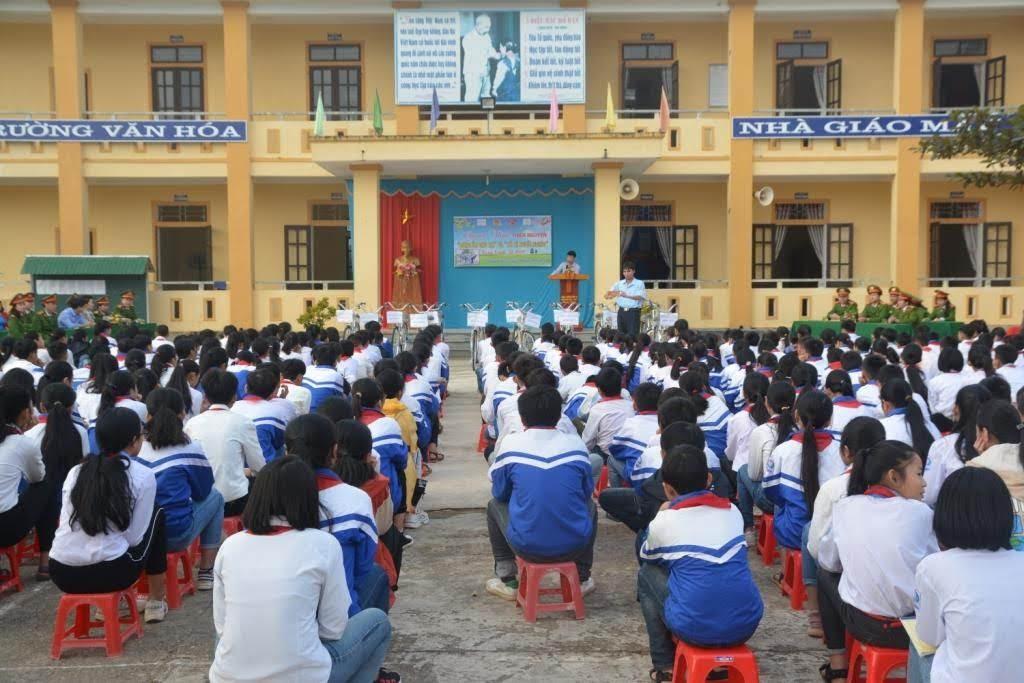 Tại Trường THCS Phong Thịnh, huyện Thanh Chương