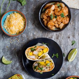 Shrimp Burritos with Mango Salsa.