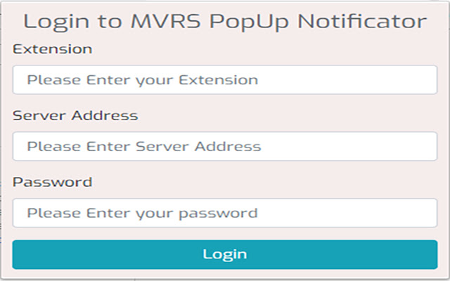MVRS PopUp Notificator