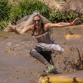 Wonkie Bride by Paul Milliken - Sports & Fitness Fitness ( mud running, mud, obstacle racing, bride, miss muddie )