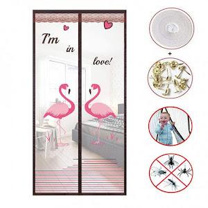 Perdea antiinsecte 90 x 210 cm, model Flamingo