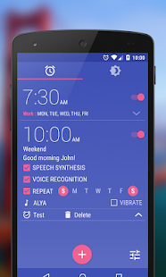 WakeVoice Trial alarm clock Screenshot