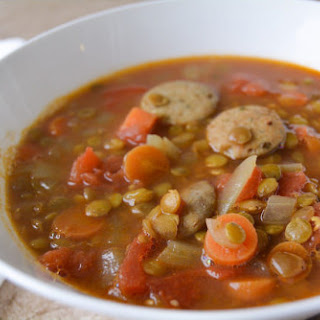 Chunky Curried Lentil Soup.
