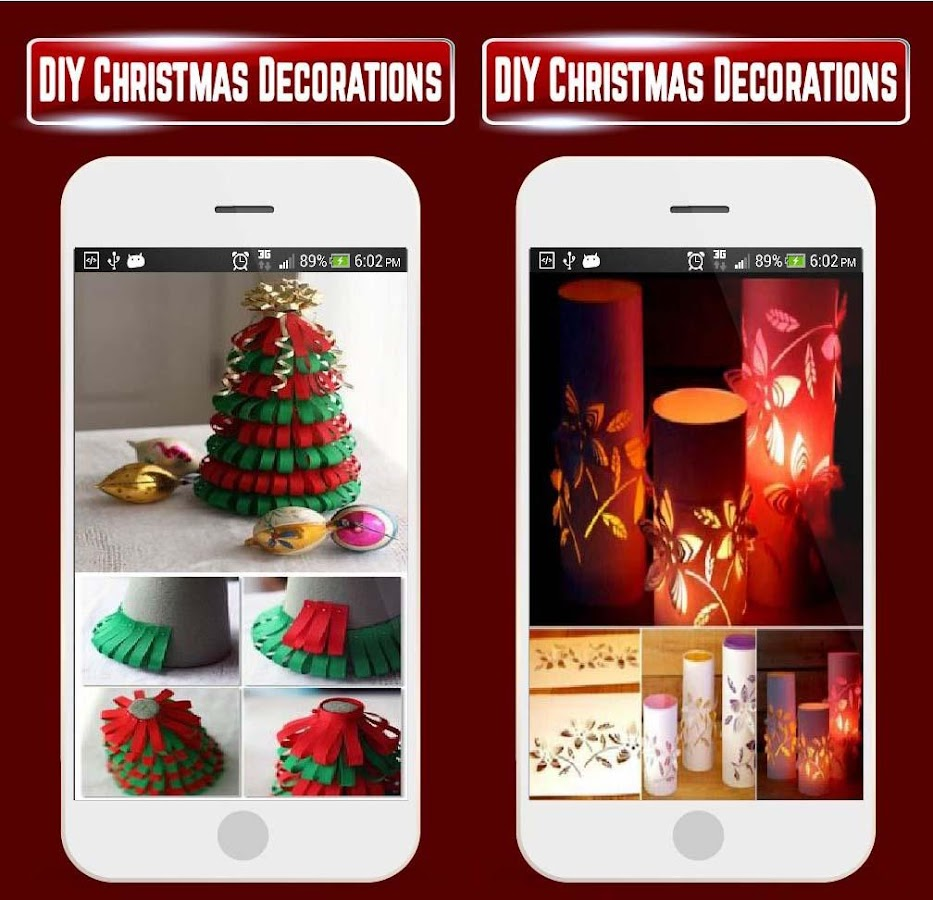 Art Ideas App: DIY Christmas Tree Home Decorations Idea Craft HD