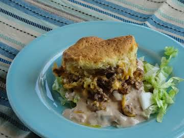 Mac Attack!!  Cheeseburger Casserole