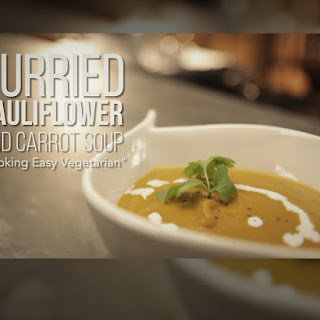 Curried Cauliflower and Carrot Soup.