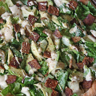 Vegan Caesar Salad Pizza