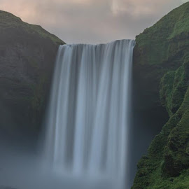 by Trevor Sherts - Landscapes Waterscapes ( cliff, waterfall, iceland, long exposure, nd filter )