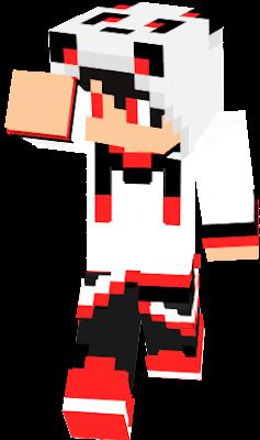 panda boy in red
