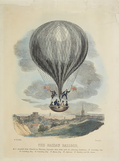 The Nassau Balloon as it ascended from Norwich#