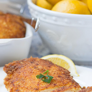 Panko Parmesan Crusted Lemon Chicken