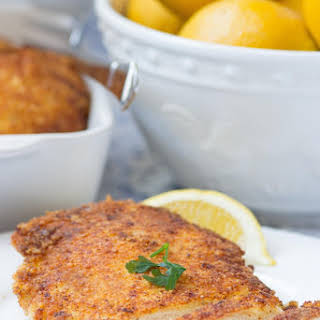 Panko Parmesan Crusted Lemon Chicken.