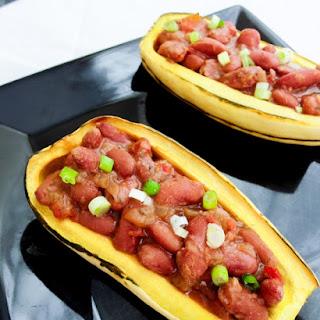 Cajun Red Bean-Stuffed Delicata Squash