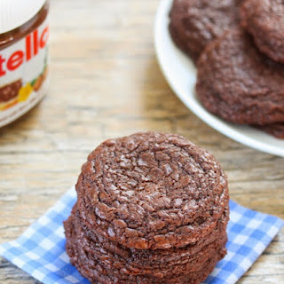 4 Ingredient Chewy Nutella Cookies.
