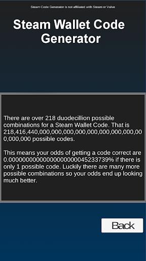 Steam Wallet Code Generator
