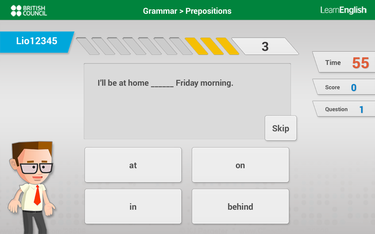 Learn English with Johnny Grammar's Word Challenge- screenshot