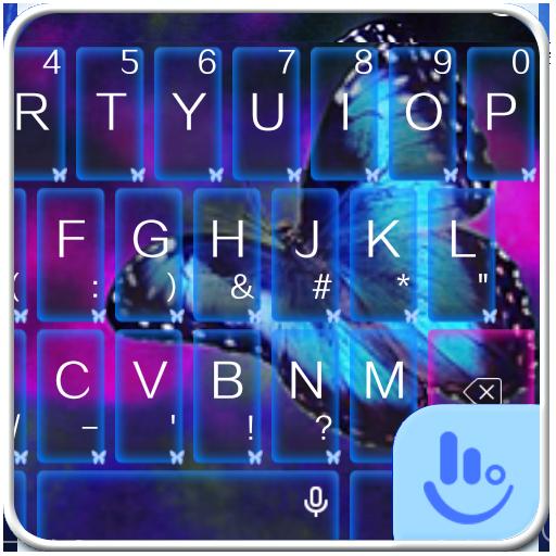 Blue Butterfly Keyboard Theme
