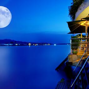 The Bleu Moon by Mohamad Sa'at Haji Mokim - Digital Art Places