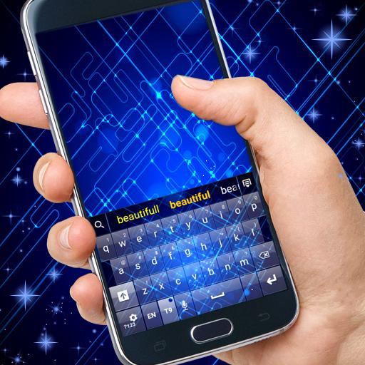 个人化の青回路のGOキーボードのテーマ LOGO-記事Game