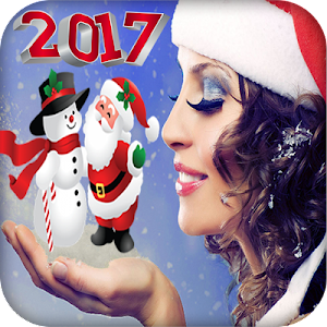 Christmas Photo Stickers maker screenshot 0