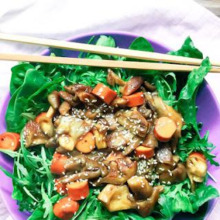 Vegan Oyster Mushroom and Spinach Stir-Fry Recipe