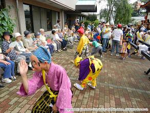Photo: 【平成23年(2011) 本宮】  コスモスセンターで岡目・ひょっとこの演舞を披露。