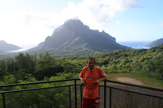 Photo: Moorea viewing Cooks Bay on the right and Opunohu Bay on the left