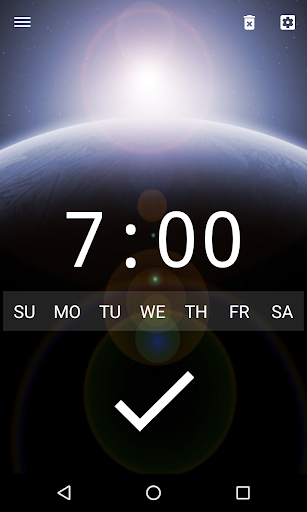 Good alarm clock without ads with music and widget screenshot 1