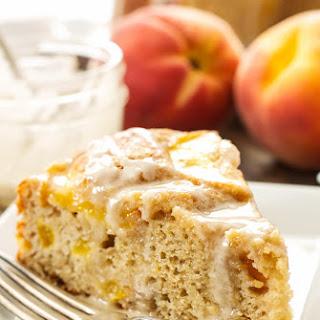 Cinnamon Peach Yogurt Cake Recipe