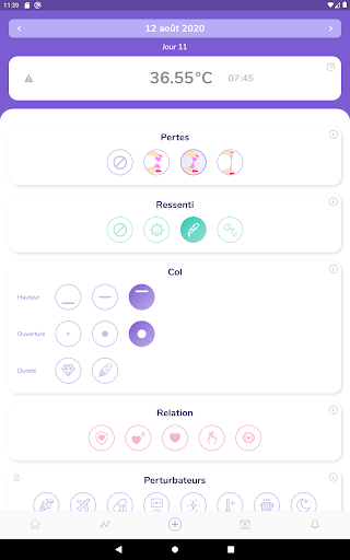 Moonly : symptothermie, suivi d'ovulation  screenshots 6