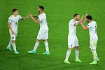 Leonardo Spinazzola komt zijn ploeggenoten bij Italië aanmoedigen op Wembley