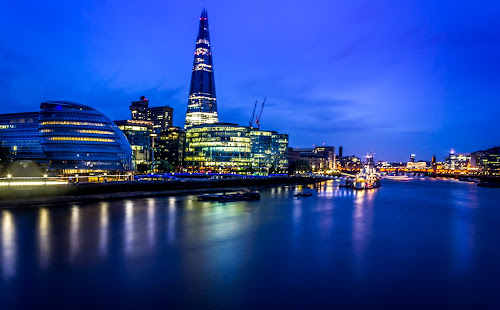 Blues of London by Charles Ong - Travel Locations Landmarks ( london, world_is_blue, night, lights, silhouette,  )